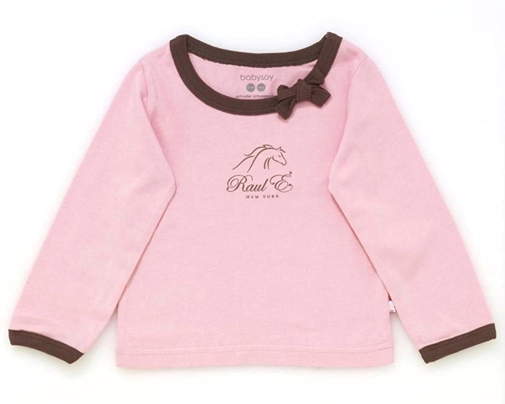 Raul E New York Baby-Girls Soy Modern Tee With Bow 12-18 M Petal