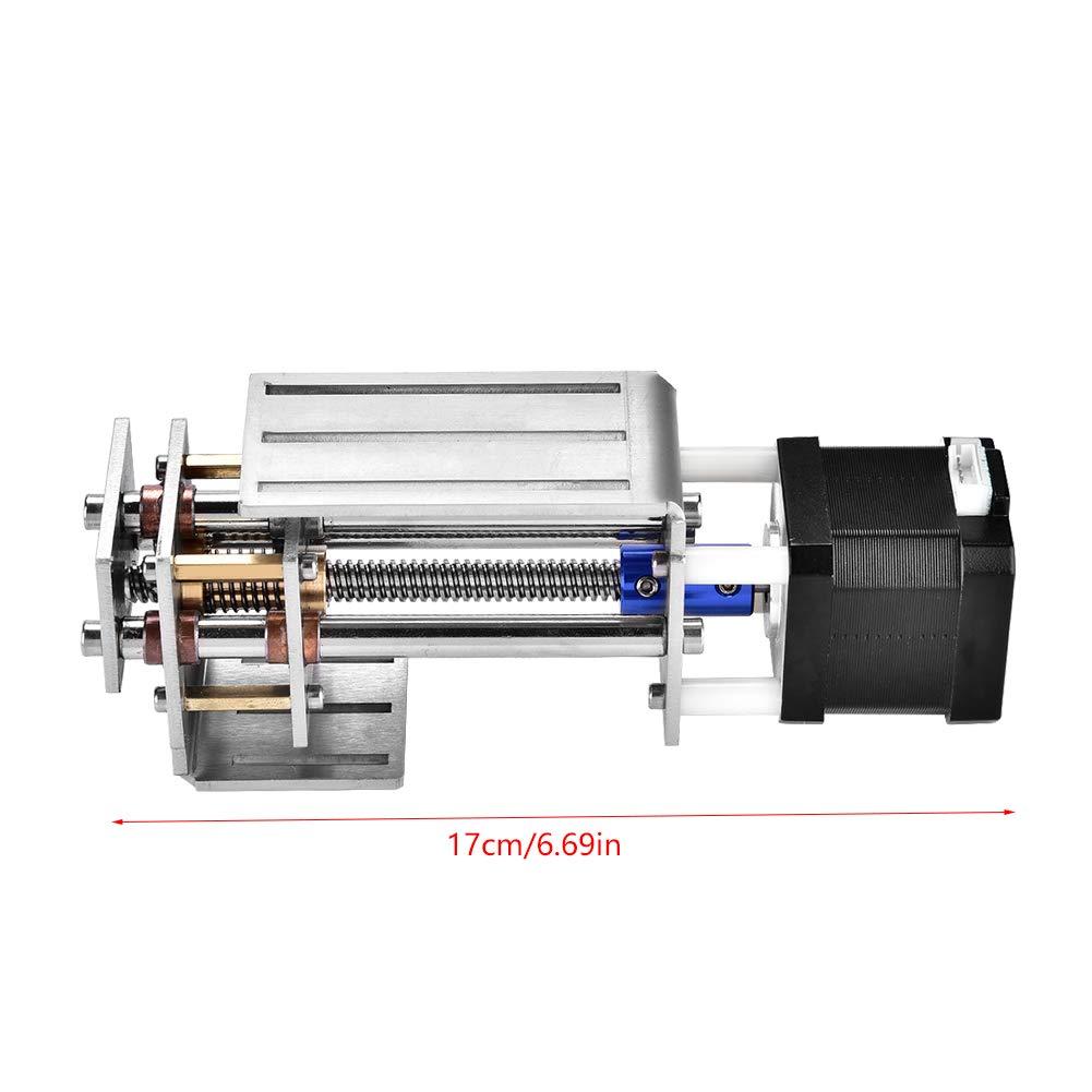 Fresado de carril de guía de movimiento lineal, deslizador de ejes Z de 60 mm y 12 V, deslizador CNC Fresado de deslizamiento lineal, deslizador de carril lineal CNC, para máquina de