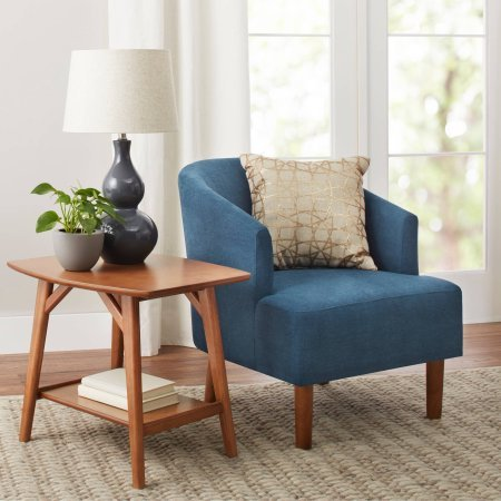 Price comparison product image Better Homes and Gardens Reed Mid Century Modern Accent Chair,  Teal