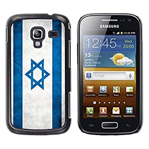 Paccase / SLIM PC / Aliminium Casa Carcasa Funda Case Cover - National Flag Nation Country Israel - Samsung Galaxy Ace 2 I8160 Ace II X S7560M
