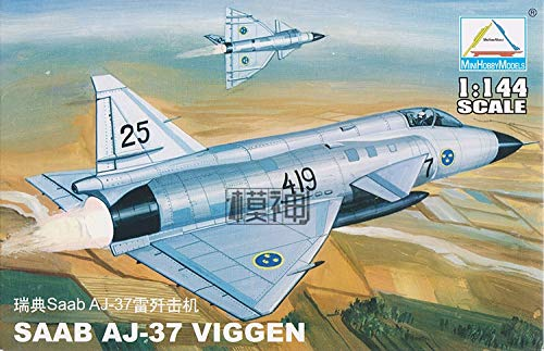 1:144 Sweden SAAB AJ-37 VIGGEN Fighter Model Military, used for sale  Delivered anywhere in USA