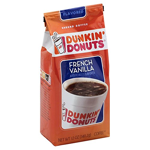 Dunkin' Donuts French Vanilla Flavored Coffee, 12 Ounce