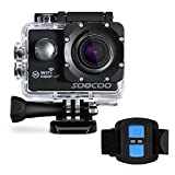 WIFI Action Camera, SOOCOO Waterproof Sport Camera 12MP FHD 1080P 170 Degree Wide Angle Underwater Diving Camera 2 inch LCD Screen/2.4G Remote Control/2x1350mAh Batteries (Micro SD Card Not Included)