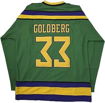 Custom Ice Hockey Greg Goldberg #33 Original Mighty Ducks Jersey