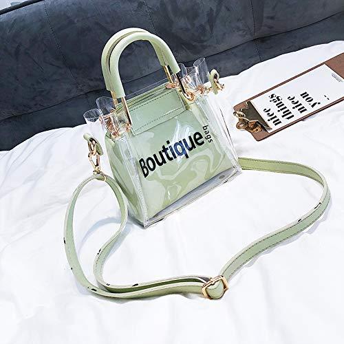 Messenger Sauvage Femme Bag Petit Vert Transparent marée WSLMHH d'été Portable Sac épaule Sac tPqIgv