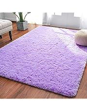 Softlife Fluffy Bedroom Area Rugs Shaggy Nursery Rug for Girls Baby Kids Dorm Room Modern Home Decorative Plush Indoor Floor Carpet, White