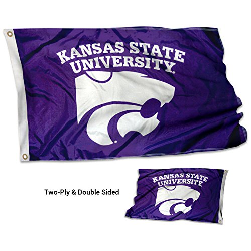 (College Flags and Banners Co. Kansas State Wildcats Double Sided Flag)