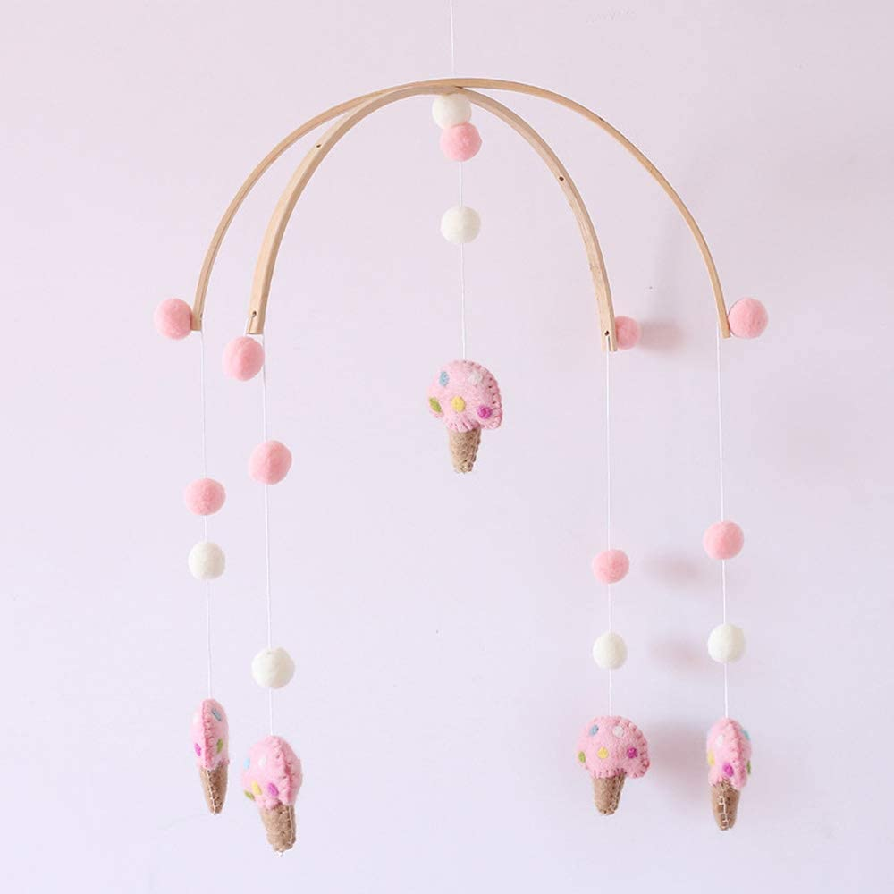 Fox Gifts for Newborn Baby for Crib Felt SYLOTS Baby Crib Mobile Crib Mobile for Boys and Girls Fish Baby Crib Room Decorations Horse ice Cream Hanging Toys