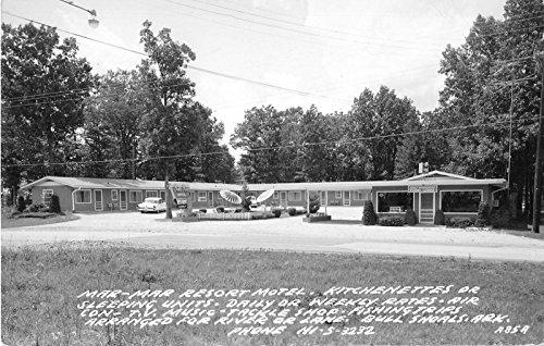 Bull Shoals Arkansas Mar-Mar Resort Motel Real Photo Postcard V10252