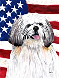 Caroline's Treasures SC9028CHF USA American Flag with Shih Tzu Flag Canvas, Large, Multicolor Review