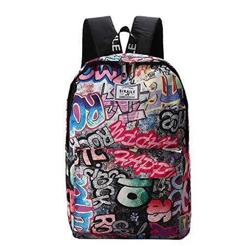 - Dainzuy Unisex Backpack Purse Print Teen Satchel Women Men Outdoor Travel Rucksack Trendy College Bookbag