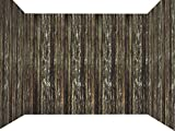 Forum Novelties Haunted House Roll Indoor/Outdoor Rotted Wood Wall Decoration, 100', Brown