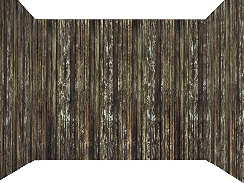 Haunted House Decor (Forum Novelties Haunted House Roll Indoor/Outdoor Rotted Wood Wall Decoration, 100', Brown)