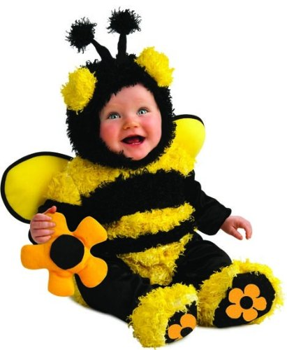 12 Girl Month Halloween Costumes (Rubie's Costume Noah's Ark Buzzy Bee Romper Costume, Yellow, 6-12)