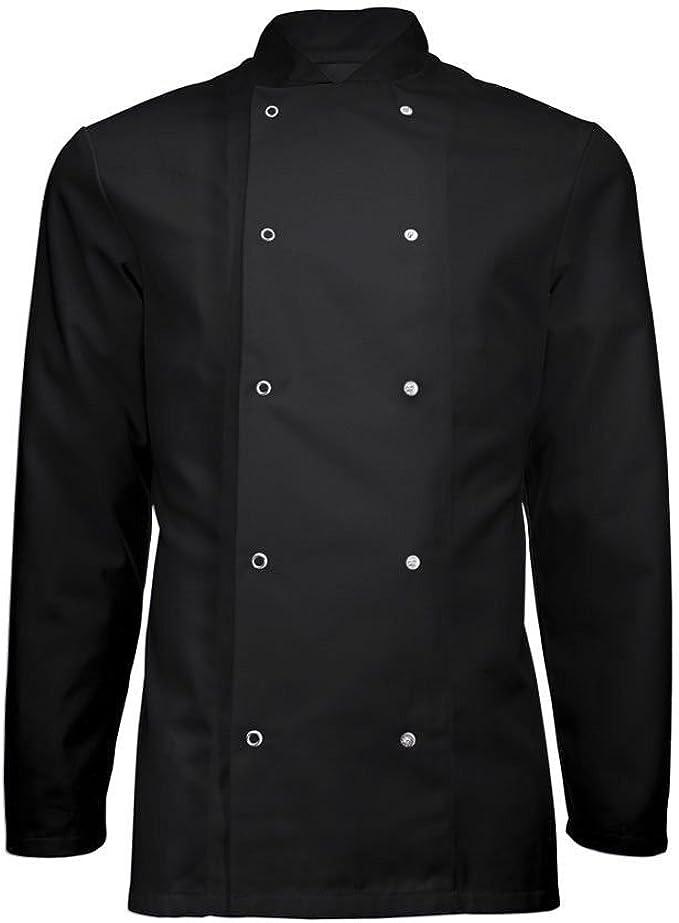 Chaqueta de chef, abrigo negro para banquetes con cierre de tuerca, ropa de restaurante, unisex, INS16: Amazon.es: Ropa y accesorios