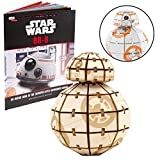 Star Wars: The Last Jedi BB-8 Book and 3D Wood Model Kit - Build, Paint and Collect Your Own Wooden Model - Great For Kids and Adults - 12+ - 2'' x 3''