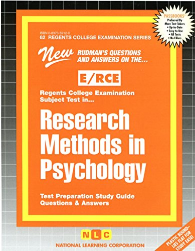 RESEARCH METHODS IN PSYCHOLOGY (Excelsior/Regents College Examination Series) (Passbooks)