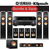 Klipsch RP-280F 9.1-Ch Reference Premiere Home Theater System with Yamaha AVENTAGE RX-A2070BL 9.2-Channel Network A/V Receiver
