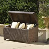 Lima Ottoman / Deck Box Perfect for Storing Anything From Yard Tools to Blankets and Pillows