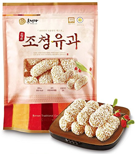 Korean Traditional Glutinous Rice Sweet Yoo Gwa Cookies 200g (1 Pack) -