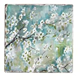 Counter Art Tumbled Tile Coasters (Set of 4), Cherry Blossoms