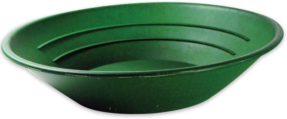 10 pulgadas Green Verde con dos tipos de riffles 25.40 cm SE GP1001G Batea de pl/ástico para buscar oro