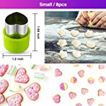Gimars Large + Small Stainless Steel Cookie & Vegetable & Fruit Cutters Shapes Sets, Mini Cookie Stamp Mold, Sandwich Cutters for Kids Baking, Bento Box and Food Decoration Tools for Kitchen 9 ? 16 PCS 2 Size (8 large : 1.8 in x 2.1 in & 8 small : 1.2 in x 1.65 in.) ¡°One cookie to one kid¡± bite size deep shape mini cookie cutters for choices - The large cookie cutters are perfect to make bite size mini cookie,spritz cookies, decorations for cake, pie crust, gum paste work, craft projects, fondant cutouts,Pastry, mini-tart, etc. The small cookie cutters are great to cut shapes for kids lunch bento box, fruit and vegetable shapes,fruit platter, drinks garnishes etc ? Thicker non rusting stainless steel cookie cutters with fine welding seams to cut food clean without bending or falling apart - Thicker high quality package of food grade stainless steel and plastic silica gel material, not contain BPA. These kids mini cookie cutters are built to last for a long time and does not rust after cleaning. Sturdy and sharp to cut shapes clean with ease. These tiny cookie cutters shapes are very easy to use ? Thicker non rusting stainless steel cookie cutters with fine welding seams to cut food clean without bending or falling apart - Thicker high quality package of food grade stainless steel and plastic silica gel material, not contain BPA. These kids mini cookie cutters are built to last for a long time and does not rust after cleaning. Sturdy and sharp to cut shapes clean with ease. These tiny cookie cutters shapes are very easy to use