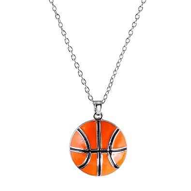 10028f8e844 MagiDeal Collier Pendentif de Mode avec Basketball Breloque en Alliage  Bijou Cadeau Homme