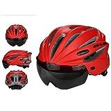 PAWACA adulto ciclismo casco de bicicleta especializado con visera extraíble para hombre y para mujer protección de seguridad, cómodo, ligero, transpirable