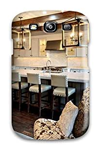 New Townhouse Kitchen With White Cabinets Amp Wooden Beams Tpu Case Cover, Anti-scratch QmRrirH17613tgPuW Phone Case For Galaxy S3