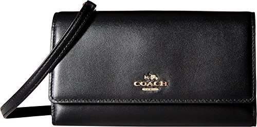 COACH Women's Smooth Leather Phone Crossbody LI/Black Cross Body by Coach