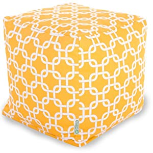 Majestic Home Goods Yellow Links Cube, Small by Majestic Home Goods