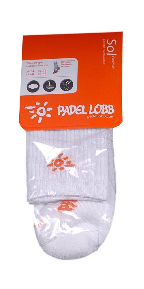 Padel Lobb - Calcetín sol coolmax, talla 43/46 , color blanco: Amazon.es: Deportes y aire libre