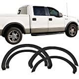 f150 2004 fender flares - Fender Flares Fits 2004-2008 Ford F-150 | OEM Factory Style Unpainted Black PP Front Rear Right Left Wheel Cover Protector Vent Trim by IKON MOTORSPORTS |  2005 2006 2007