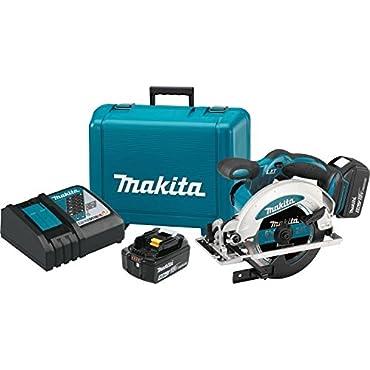 Makita XSS01T 5.0 Ah 18V LXT Lithium-Ion Cordless 6-1/2 Circular Saw Kit