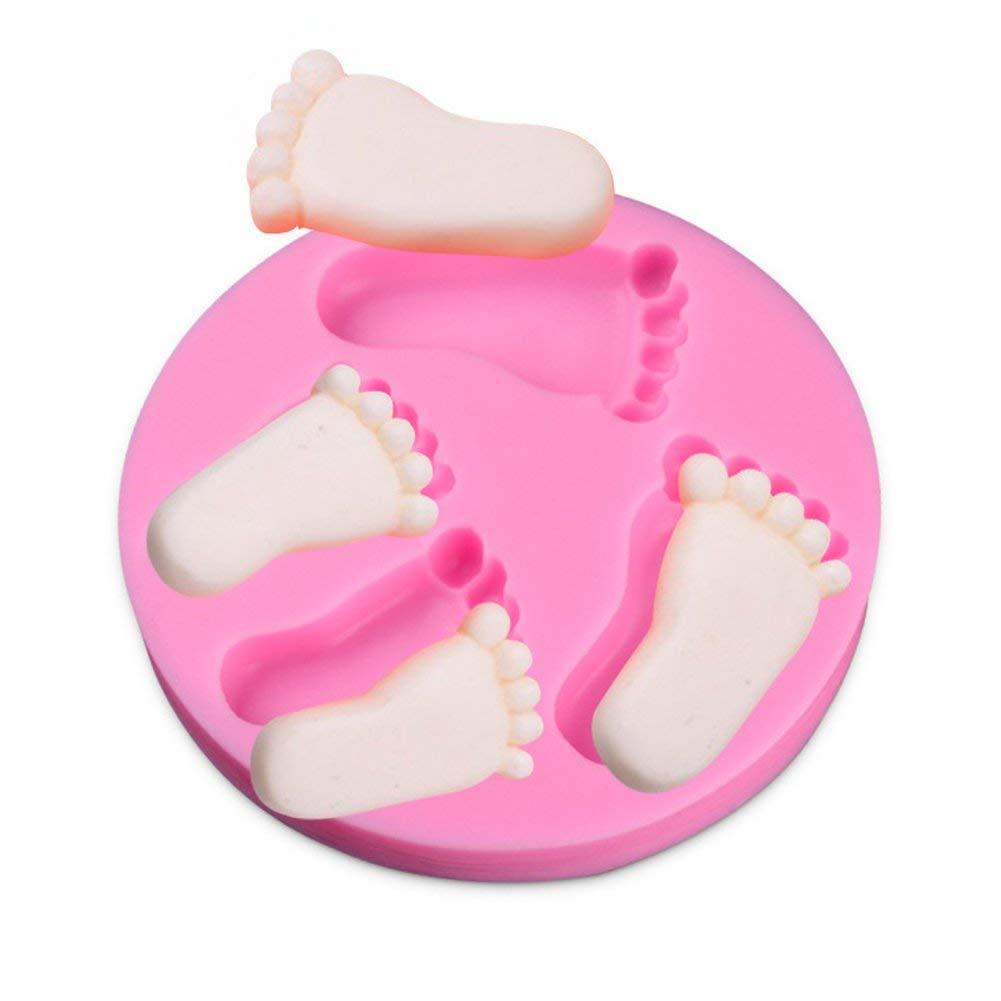 Queta Molde de jabón Hecho a Mano, tamaño de pie para repostería, Silicona para decoración de Tartas de bebé, Baby Shower, cumpleaños, Fiestas: Amazon.es: ...