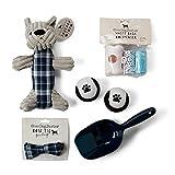 Tri-Coastal Design Dog Gift Basket Set - Fetch Balls, Play Toy, Pooper Scooper, Waste Bags & Dispenser - Great Gift Under 20