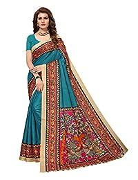 Peegli Saree Indian Women Sari Khadi Silk Traditional Kalamkari Printed Saree