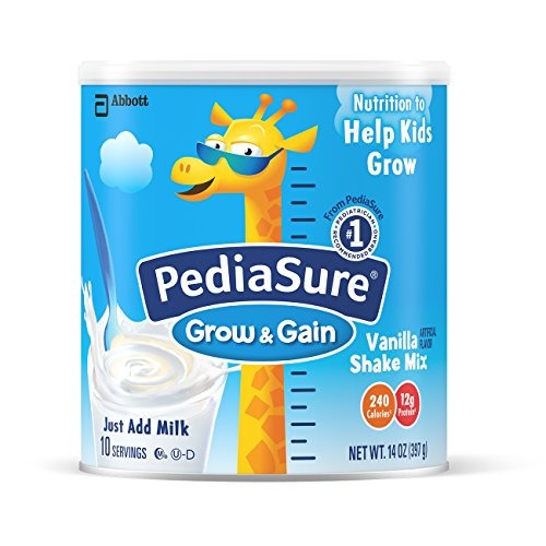 PediaSure Grow & Gain Vanilla Shake Mix, Nutrition Shake For Kids, 14 oz (Pack of 2)