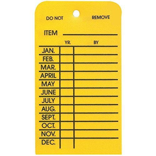 Plastic Inspection Tag (One Year Only) (580 Pack)
