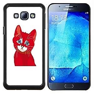 Dragon Case - FOR Samsung Galaxy A8 A8000 - ?you love is not happy - Caja protectora de pl??stico duro de la cubierta Dise?¡Ào Slim Fit