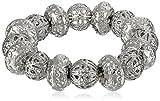 "Best 1928 Jewelry Bracelets - 1928 Jewelry ""Social Essentials"" Silver-Tone Filigree Beaded Stretch Review"