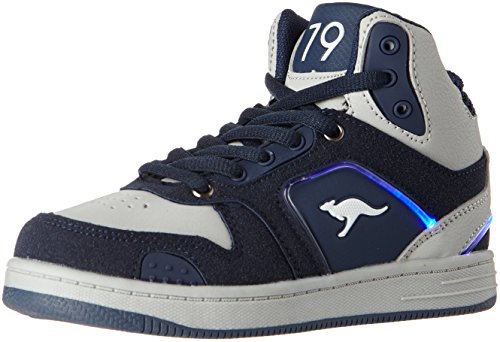 KangaROOS K-Baskled II, Zapatillas Altas Unisex Niños Blau (K Blue/Vapor Grey)