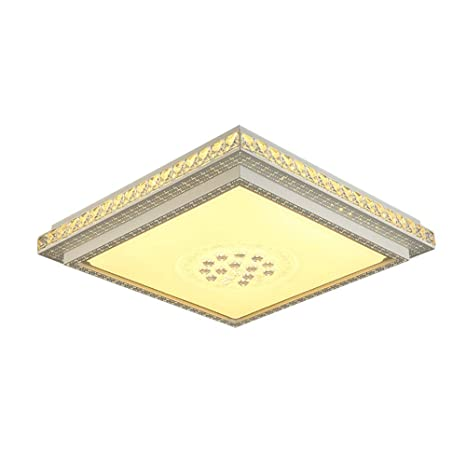 89de665c3c2d Image Unavailable. Image not available for. Color: CCSUN LED Ceiling  Lighting Flush Mount, Rectangle Crystal Ceiling Light Fixture for Bedroom  Living Room