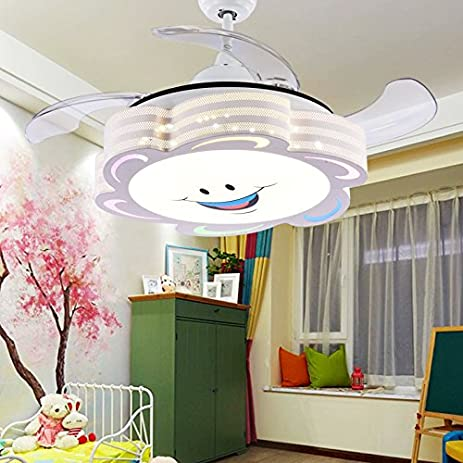 Tiptonlight cute white retractable ceiling fans kids 42 inch with tiptonlight cute white retractable ceiling fans kids 42 inch with cartoon smile three change colors aloadofball Gallery
