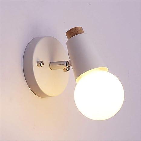 Lampara Vintega del Pared,E27 LED Apliques de pared,Iluminación Luz de interior para cocina restaurante, comedor, hotel,salon (Blanco)