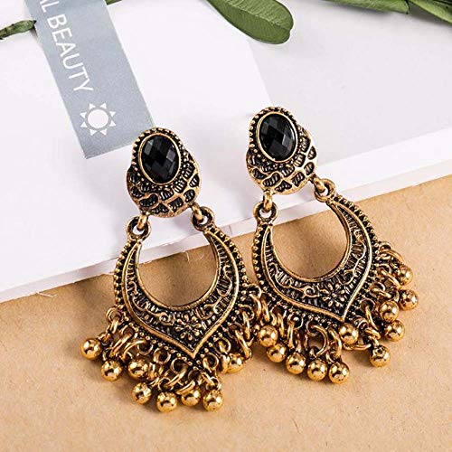 SHENGZ Vintage Women's Earrings with Round Pendant, Creative Decorative Earrings, Party Travel Decorating Gadgets Random Color 3Pairs