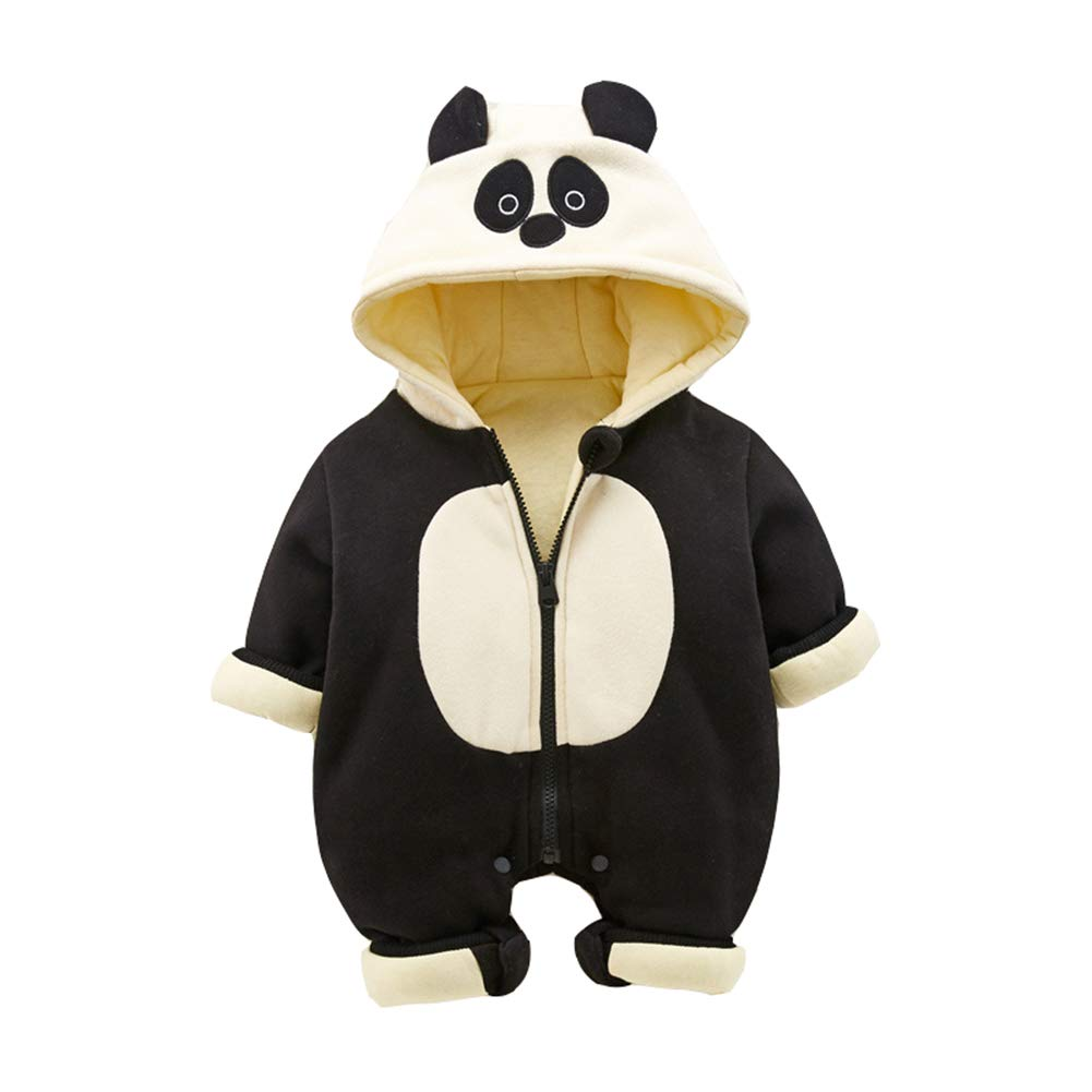 HUHUXXYY Infant Boy Girl Panda Hooded Romper Outwear Thick Winter Jumpsuit Bunting