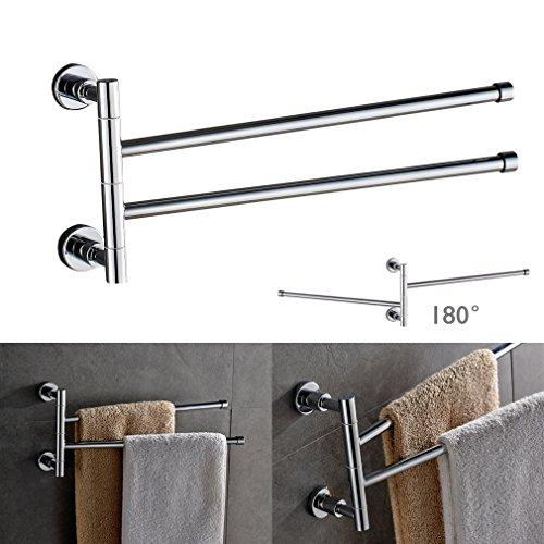 Kinse porta asciugamani bagno da parete muro ottone e acciaio inossidabile per bagno e doccia - Amazon porta asciugamani bagno ...