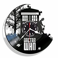Doctor WHO vinyl wall clock- Modern room decor - Unique Handmade gift for friends and someone you love